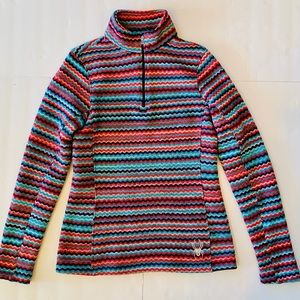 Spyder Sweater Fleece Jacket chevron pullover